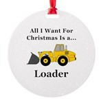 Christmas Loader Round Ornament