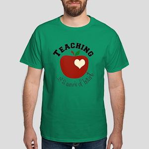 Teacher Teaching Heart Dark T-Shirt