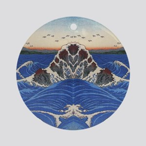Angry Sea from Hirshige Round Ornament