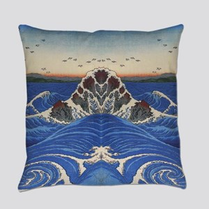 Angry Sea from Hirshige Everyday Pillow
