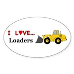 I Love Loaders Sticker (Oval 50 pk)