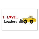 I Love Loaders Sticker (Rectangle 50 pk)