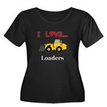 I Love L Women's Plus Size Scoop Neck Dark T-Shirt