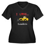I Love Loade Women's Plus Size V-Neck Dark T-Shirt