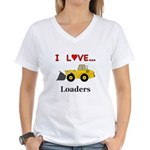 I Love Loaders Women's V-Neck T-Shirt