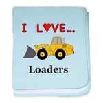 I Love Loaders baby blanket