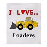 I Love Loaders Throw Blanket