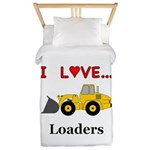 I Love Loaders Twin Duvet