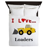 I Love Loaders Queen Duvet