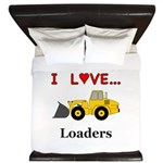I Love Loaders King Duvet