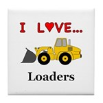 I Love Loaders Tile Coaster
