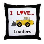 I Love Loaders Throw Pillow
