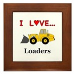 I Love Loaders Framed Tile