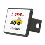 I Love Loaders Rectangular Hitch Cover