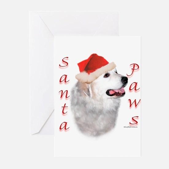 Santa Paws Pyrenees Greeting Cards