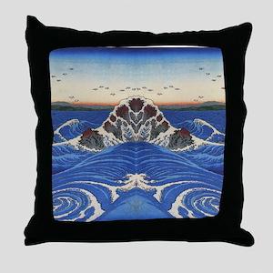 Angry Sea from Hokusai Throw Pillow