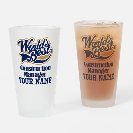 Construction Manager Personalized Gift Drinking Gl