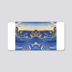 Angry Sea from Hirshige Aluminum License Plate
