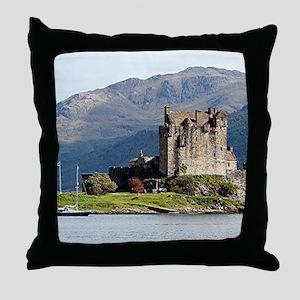 Eilean Donan Castle, Scotland, United Throw Pillow