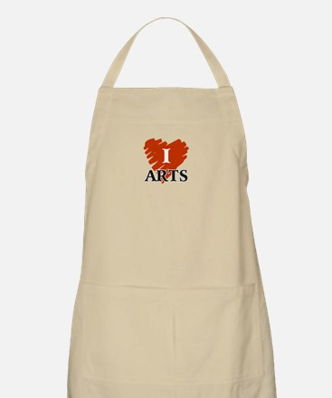 I Love Arts BBQ Apron