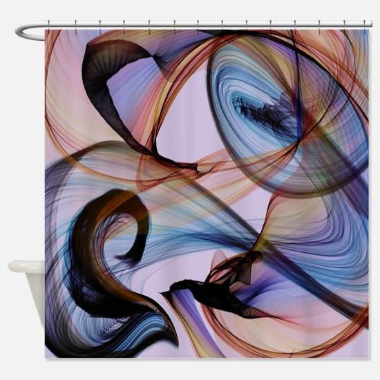 Bird Flame Purple Shower Curtain