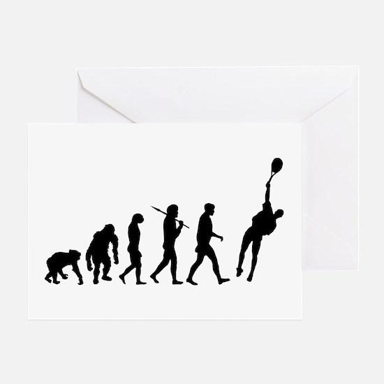 Evolution Tennis Greeting Cards
