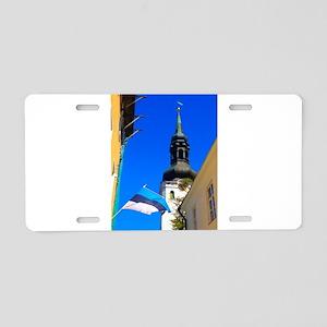 Blue Skies of Estonia Aluminum License Plate