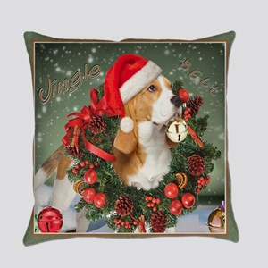 Beagle Christmas Bells Everyday Pillow