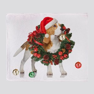 Beagle Christmas Bells Throw Blanket