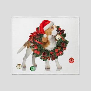 Beagle Christmas Bells Throw Blanket
