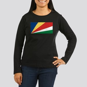 Flag of Seychelles Women's Long Sleeve Dark T-Shir