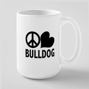 Peace Love Bulldog Mugs