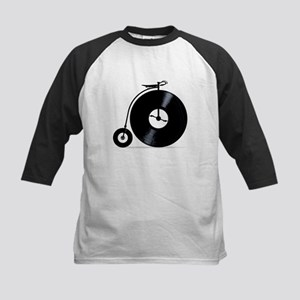Penny Farthing With Vinyl Records Baseball Jersey