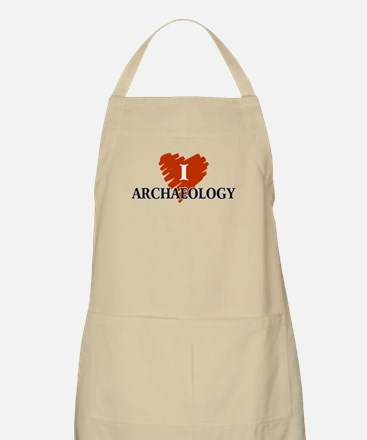 I Love Archaeology BBQ Apron