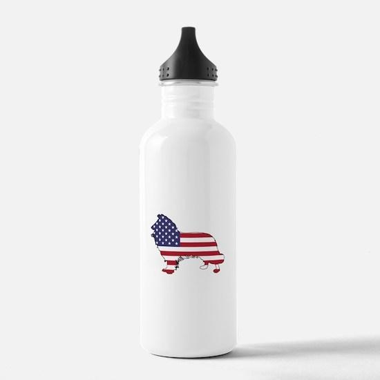 American Flag - Border Water Bottle