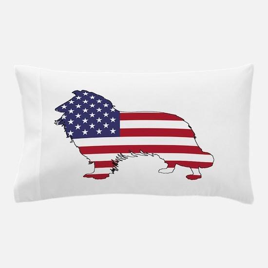 American Flag - Border Collie Pillow Case
