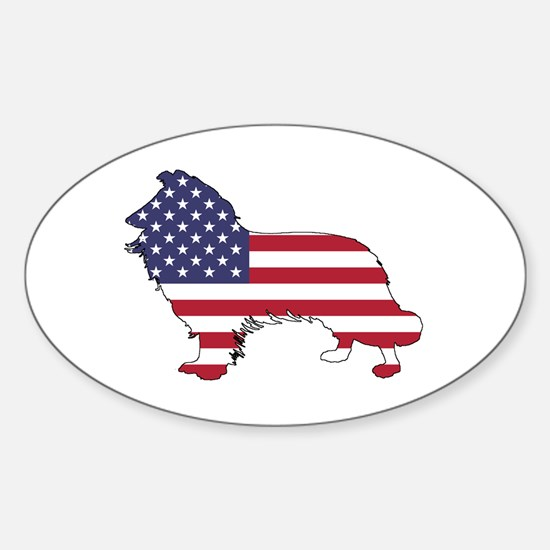 American Flag - Border Collie Decal
