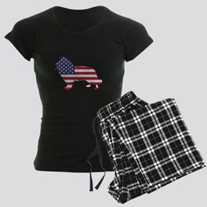 American Flag - Border Collie Pajamas