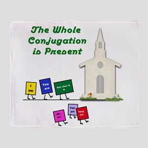 The Whole Conjugation Throw Blanket