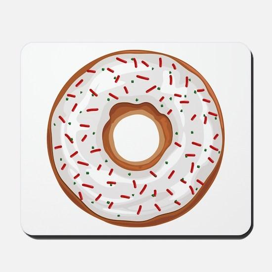 Christmas Sprinkles Donut Mousepad