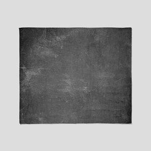 Rustic Chalkboard Background Texture Throw Blanket