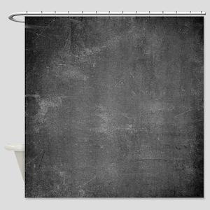 Rustic Chalkboard Background Textur Shower Curtain