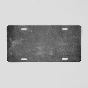 Rustic Chalkboard Backgroun Aluminum License Plate