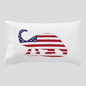 Brontosaurus - American Flag Pillow Case