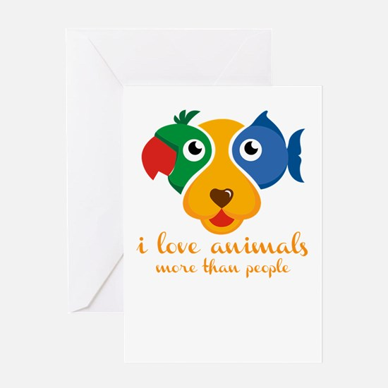 i love animals more than people Greeting Cards
