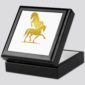 i love horse Keepsake Box