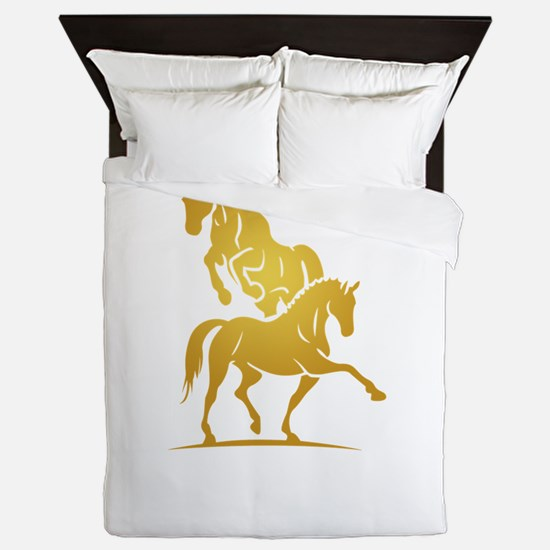 i love horse Queen Duvet