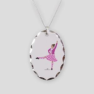 Scottish Highland Dancer Necklace Oval Charm