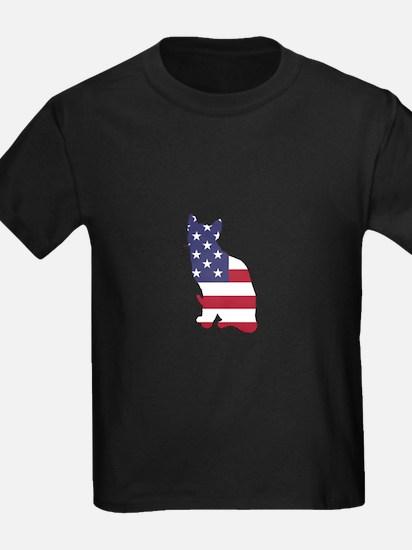American Flag - Cat T-Shirt