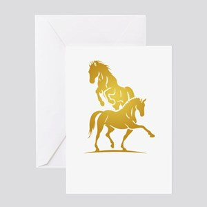 i love horse Greeting Cards
